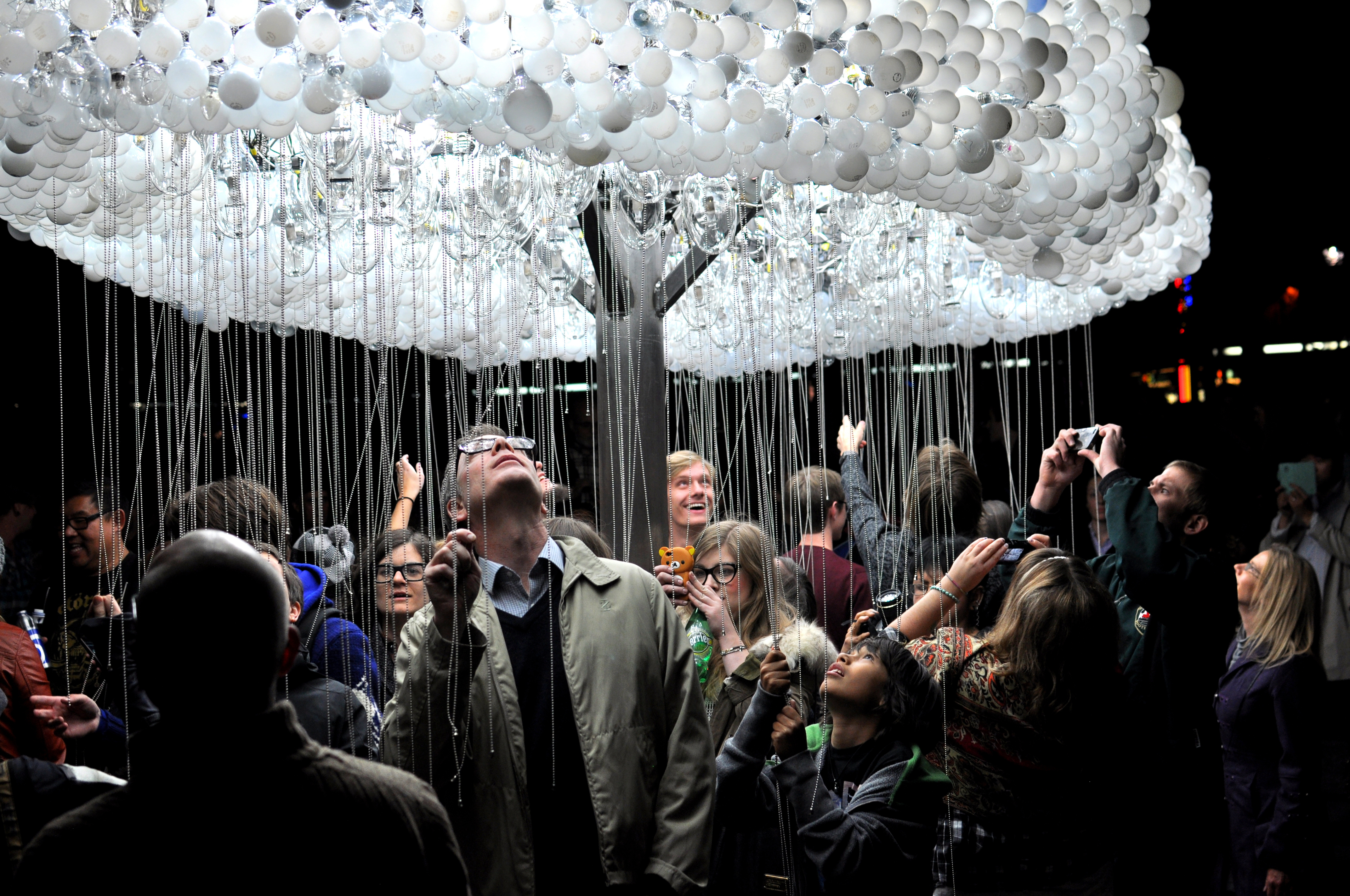 Cloud A Striking Interactive Installation Made From